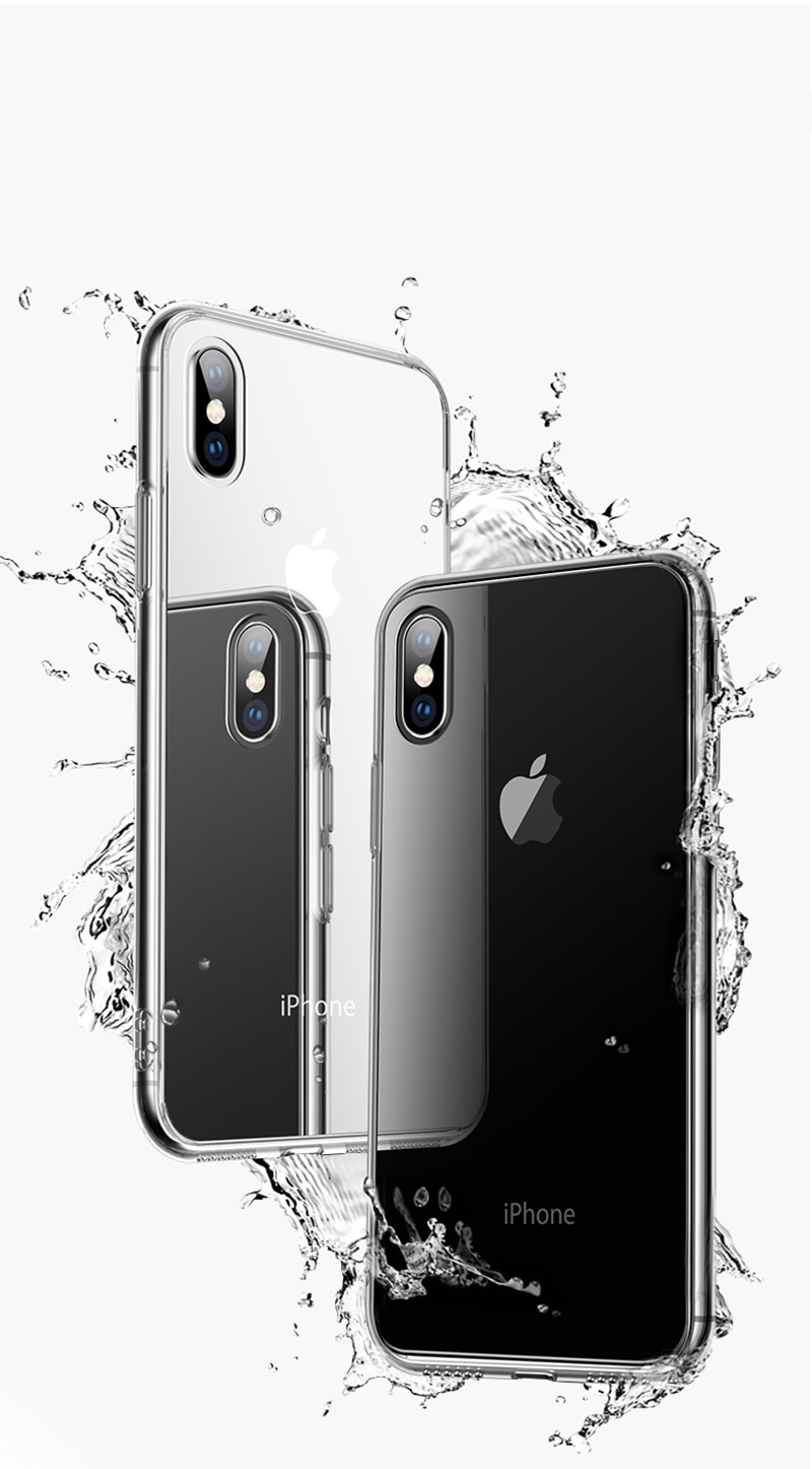 TOMKAS Premium Glass Case For iPhone XS XS Plus Cases Transparent Luxury Silicone Edge Glass Back Cover For iPhone X 2018 Case (1)
